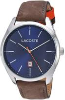 Lacoste Men's 2010910 Luxury 3HD/ Ss Case/ Brown Leather Strap/ Blue Dial Watch