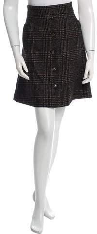 Dolce & Gabbana A-Line Houndstooth Skirt