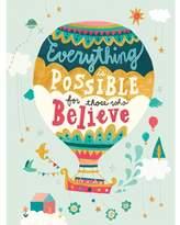 Oopsy Daisy Fine Art For Kids Believe Balloon by Irene Chan Paper Print