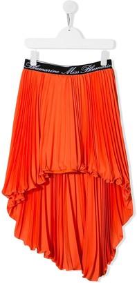 Miss Blumarine Asymmetric Hem Pleated Skirt