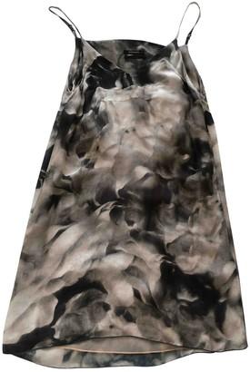 Diesel Black Gold Multicolour Silk Dress for Women