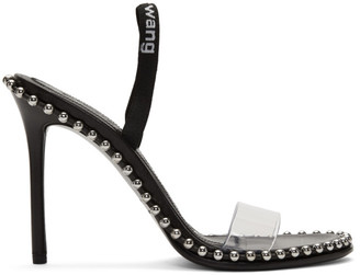 Alexander Wang Black Nova Logo Sandals