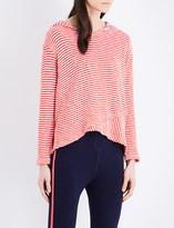 Sundry Striped cotton hoody
