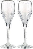 Mikasa Flame D'amore Platinum Set of 2 Platinum Crystal Wine Glasses