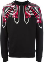 Les Hommes tribal print sweatshirt