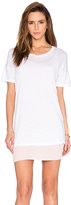 Monrow Double Layer Tee Shirt Dress