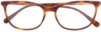 Gucci Tortoiseshell Rectangular-Frame Glasses