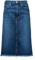 Red Card midi denim skirt - women - Cotton/Polyurethane - 22