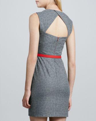 Black Halo Laurence Cheetah-Print Dress