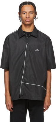 A-Cold-Wall* A Cold Wall* Black Piping Center Zip Polo