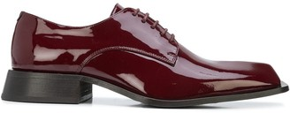 Martine Rose Daab patent Derby shoes
