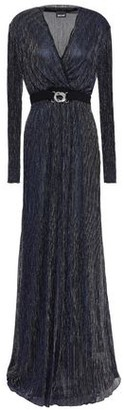 Just Cavalli Embellished Metallic Jersey Gown
