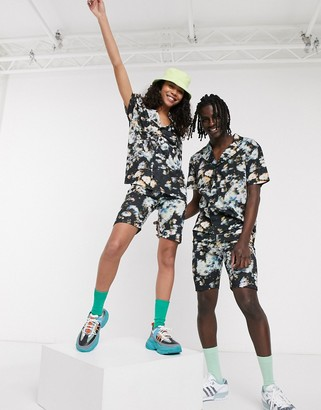 ASOS DESIGN x glaad& unisex two-piece short meggings in all over floral print