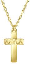 Zales Child's Name Cross Pendant in 10K Gold (8 Letters)
