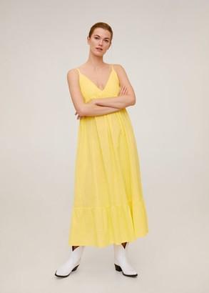 MANGO Long cotton dress