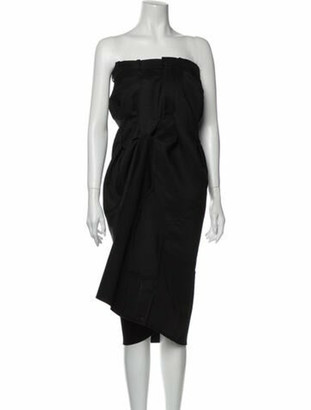 Maison Margiela Strapless Knee-Length Dress Black