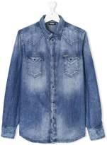 Diesel Teen faded denim shirt