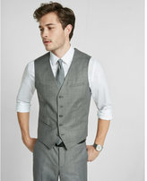 Express micro twill suit vest