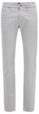 HUGO BOSS Slim Fit Jeans In Super Soft Italian Stretch Denim - Light Grey