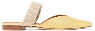 Malone Souliers Maisie Point-toe Raffia Mules - Womens - Gold