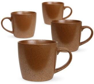 Rob-ert Robert Gordon Granite Stoneware Mug 350ml Set of 4 Rust
