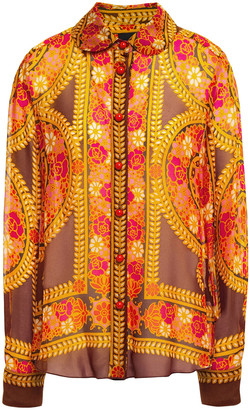 Anna Sui Printed Georgette Shirt