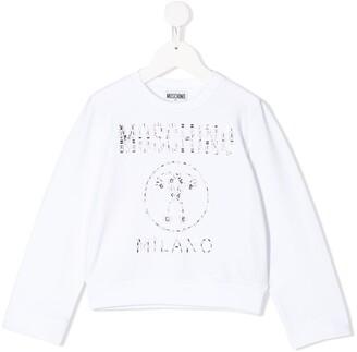 MOSCHINO BAMBINO Embellished Logo Sweatshirt