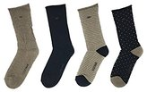 Cole Haan Women's 4 Pack Cushion Sole Roll Top Crew Socks
