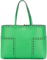 Tory Burch brogued detail tote bag - women - Leather - One Size
