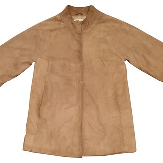 Cyrillus Camel Leather Coat for Women