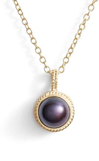 Anna Beck Genuine Blue Pearl Pendant Necklace