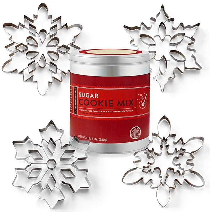 Williams-Sonoma Giant Snowflake Cookie Cutters & Sugar Cookie Mix Gift Set