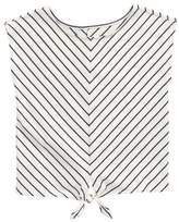 Tea Collection Stripe Tie Waist Tee