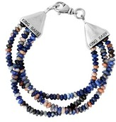 King Baby Studio Men's Sodalite Bead Bracelet