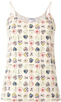 Chanel Pre Owned signature hearts print camisole