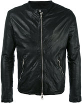 Giorgio Brato zip up jacket - men - Cotton/Leather/Nylon - 48