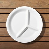 Crate & Barrel Divided White Melamine Plate