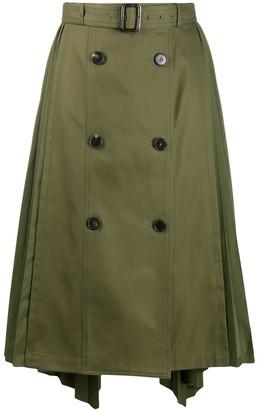 Juun.J Belted Pleated Skirt