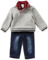 Starting Out Baby Boys 3-24 Months Sweater, Checked Button-Down Shirt, & Pants 3-Piece Set