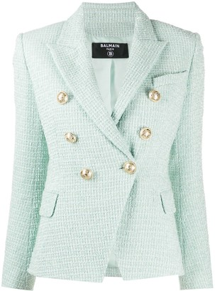 Balmain Double-Breasted Tweed Jacket