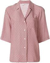 Alberto Biani tie-print open collar shirt