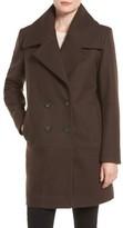 Andrew Marc Women's 'Natalie' Twill Wool Blend Boyfriend Coat