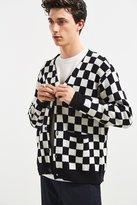 Lazy Oaf Mono Check Cardigan Sweater