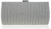 Nina Herringbone Beaded Clutch