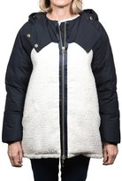 Moncler Gamme Rouge Sabine Wool Puffed Jacket Navy Women's.