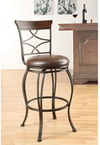 Acme Tavio 29 in. Antique Bronze Swivel Cushioned Bar Stool (Set of 2)