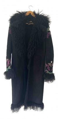 Roberto Cavalli Black Suede Coats