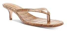 Schutz Women's Ivone Slip On Mid-Heel Thong Sandals