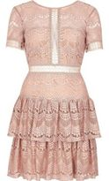 River Island Womens Nude frill lace dress