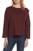 Halogen Women's Side Ruffle Sweatshirt